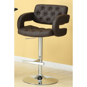 Brown 29-Inch Contemporary Adjustable Height Bar Stool