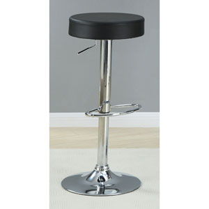 Black 29-Inch Adjustable Height Stool