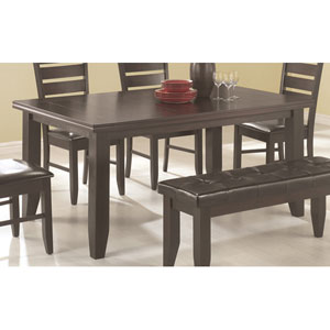 Page Black Contemporary Rectangular Semi-Formal Dining Table