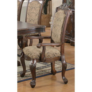 Andrea Cushion Seat and Back Rolled Arm Dining Chair, Set of 2