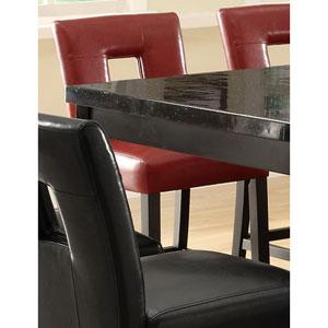 Newbridge Red Counter Height Stool with Vinyl Cushion