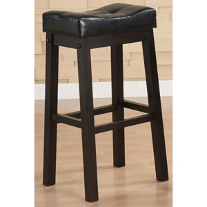 Sofie 29-Inch Bar Stool with Plush Upholstered Seat, Set of 2