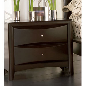 Phoenix Cappuccino Two Drawer Nightstand