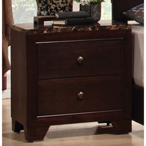Conner Nightstand with Faux Marble Top