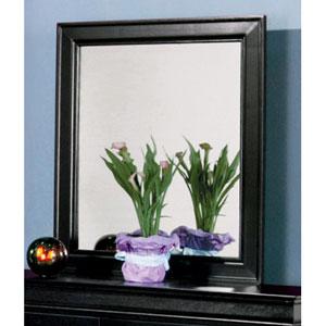 Louis Philippe Black Dresser Mirror