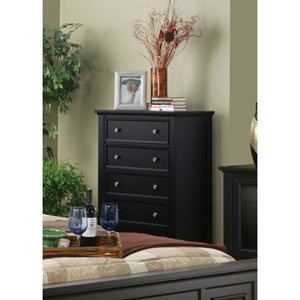 Sandy Beach Black Five Drawer Chest