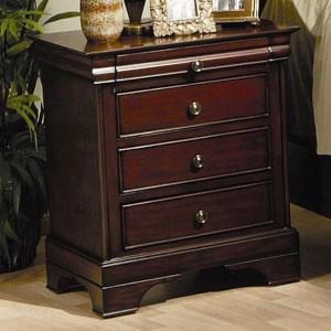 Versailles Three Drawer Nightstand