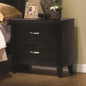 Nacey Two Drawer Nightstand with Metal Hardware
