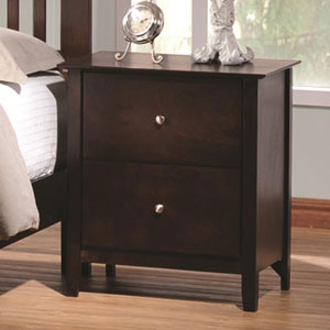 Tia Casual Two Drawer Night Stand
