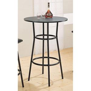 Black Round Bar Table