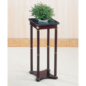 Green Marble Top Square Plant Stand