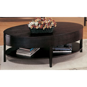 Gough Oval Coffee Table with Shelf