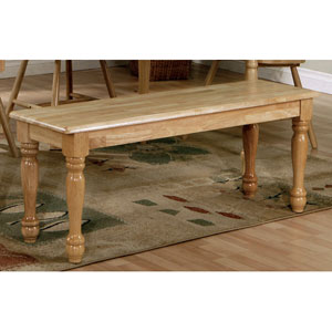 Damen Natural Wood Dining Bench