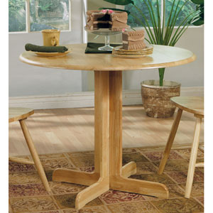 Damen Pedestal Table with Leaf