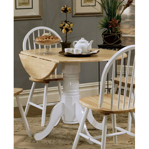 Charmant Damen Round Pedestal Drop Leaf Table