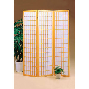 Three Panel Natural Frame Screen