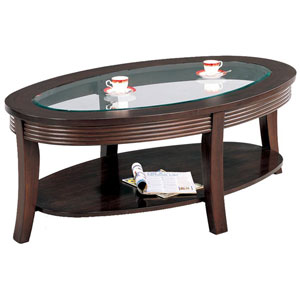 Simpson Coffee Table with Glass Top