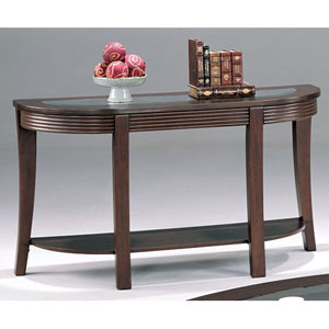Simpson Sofa Table with Glass Top