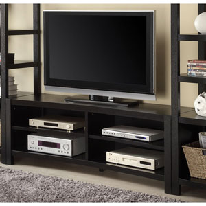 Brown Inverted Curved Front TV Console