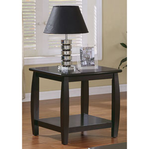 Marina End Table with Bottom Shelf