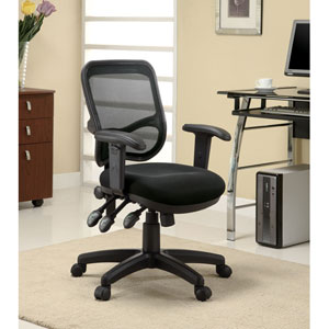 Black Contemporary Mesh Office Task Chair