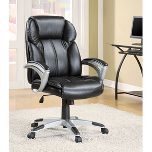 Black Casual Contemporary Faux Leather Office Task Chair