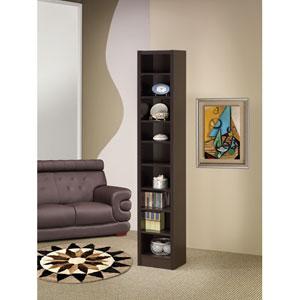 Cappuccino Narrow Bookcase