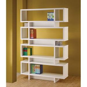 White Contemporary Open Bookcase