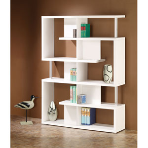 White Modern Bookcase