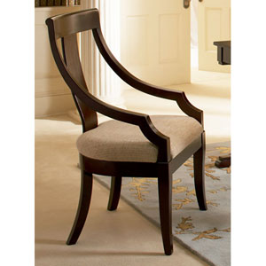 Cresta Classic Vertical Splat Arm Chair with Fabric Seat