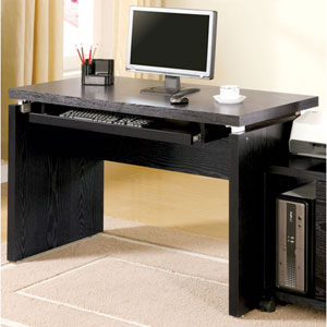 Peel Black Computer Desk with Keyboard Tray
