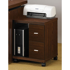 Peel Brown Two Drawer Computer Stand
