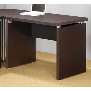 Cappuccino Contemporary Return Desk