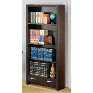 Papineau Four Shelf Bookcase with Storage Drawer