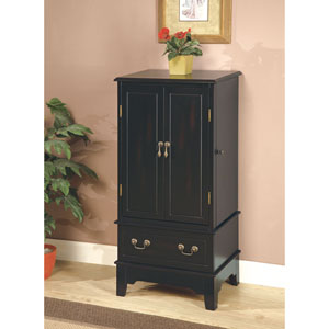 Black Jewelry Armoire with Two Doors