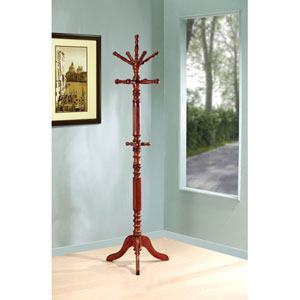 Tobacco Traditional Coat Rack with Spinning Top