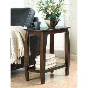 Walnut Contemporary Bowed Leg Chairide Table