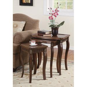 Cherry Three Piece Curved Leg Nesting Tables
