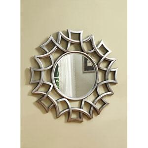 Silver Starburst Accent Mirror