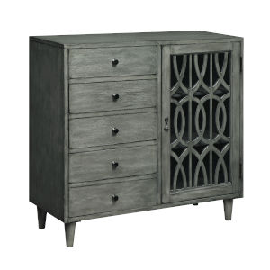 Gray Five-Drawer Buffet
