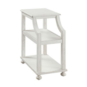 Chairside White End Table
