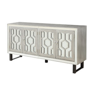 Pewter Four-Door Tv Stand Cabinet