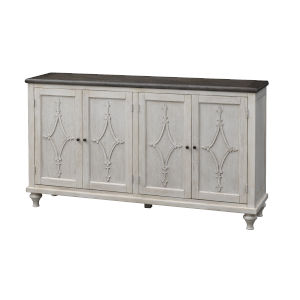 St Claire Ivory Four-Door Tv Stand Cabinet