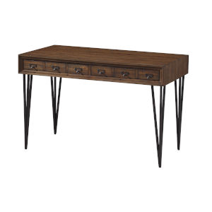 Oxford Brown Two-Drawer Desk