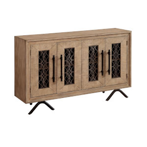 Natural Four-Door Tv Stand Cabinet