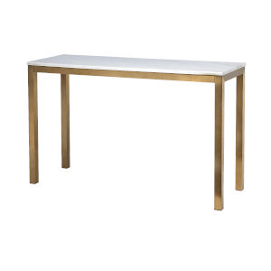 Gold Marble Top Console Table