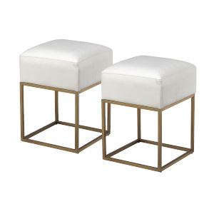 Gold Stools, Set of 2