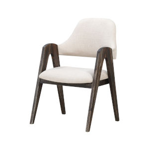 Aspen Brown Arm Dining Chair, Set of 2