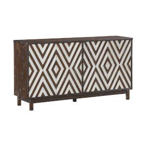 Brown 66-Inch Four-Door Tv Stand Cabinet