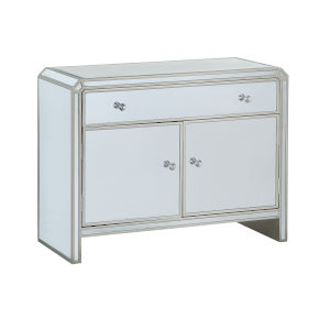 Mirrored Two-Door-Drawer Cabinet
